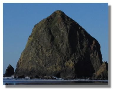 Haystack Rock in Cannon Beach, Oregon