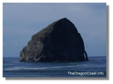 Haystack rock in Pacific City, Oregon