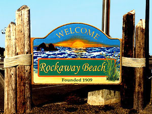 Rockaway Beach on the Oregon Coast