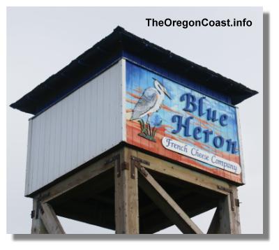 Blue Heron Sign in Tillamook, Oregon