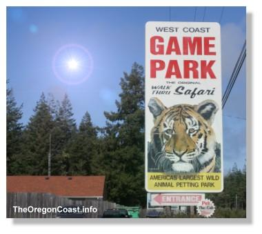 West Coast Game Park Sign